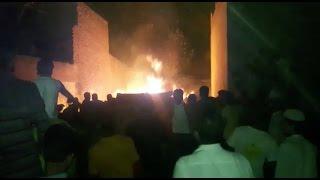 कहीं खेतों में लगी आग तो कहीं गोदाम में सामान खाक