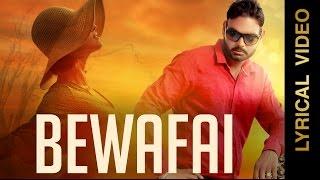 Punjabi Sad Songs | BEWAFAI | RAVINDER DHILWAN | LYRICAL VIDEO