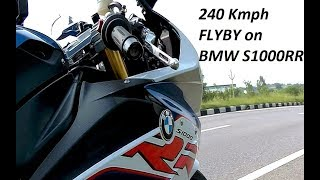 FlyBy 240KMPH on BMW S1000RR in India. Superbike FLYBY.