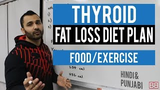 THYROID Fat Loss Diet Plan! (Hindi / Punjabi)