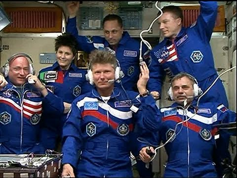 Raw- Astronauts Arrive at ISS for 1-year Mission News Video