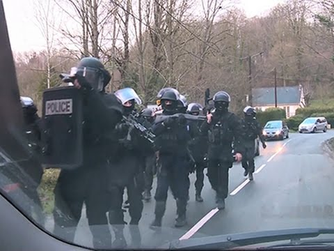 Raw- French Police Hunt Massacre Suspects News Video