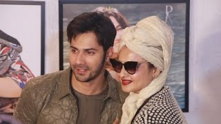 Varun Dhawan With Rekha At Dabboo Ratnani's Calendar 2017 Launch
