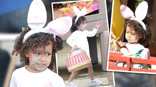 North West Is The CUTTEST BUNNY Ever | Easter Egg Hunt 2016 | Lehren Hollywood