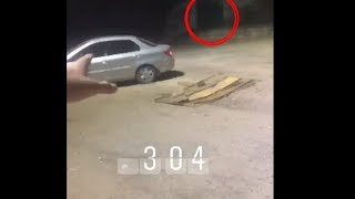 Real Ghost Caught On My Car While Shooting At Night | *True Story