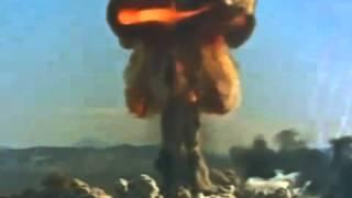 Video yang menakjubkan, letupan nuklear gergasi