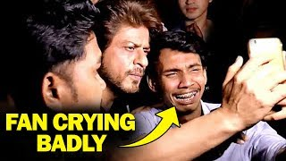 Shahrukh's FAN Crying While Taking Selfie | Emotional Video