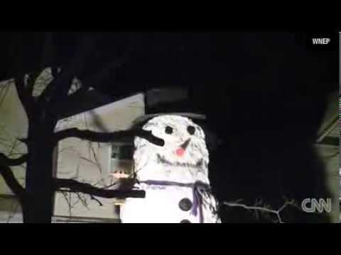 Teen builds huge snowman News Video