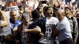 Donald Trump under fire for violence at his rallies