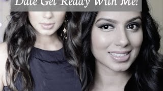 Get Ready With Me - GRWM! Date Night Makeup l Hair + Outfit