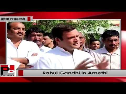 Rahul Gandhi talks to media after filing nomination