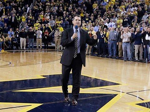 Michigan Welcomes Back Jim Harbaugh News Video