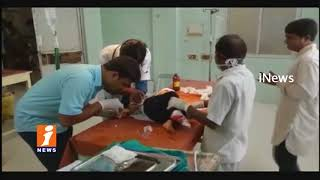 4 Injured in Car Accident as Women Hits People In Warangal | iNews
