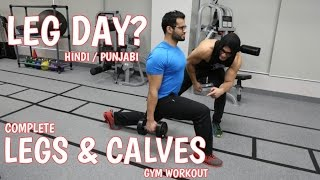 BBRT #50- Complete LEGS and CALVES workout! (Hindi / Punjabi)