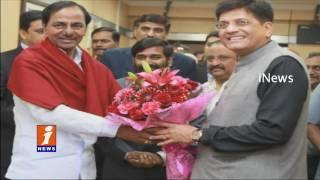 Telangana CM KCR Meets Union Minister Piyush Goyal | iNews