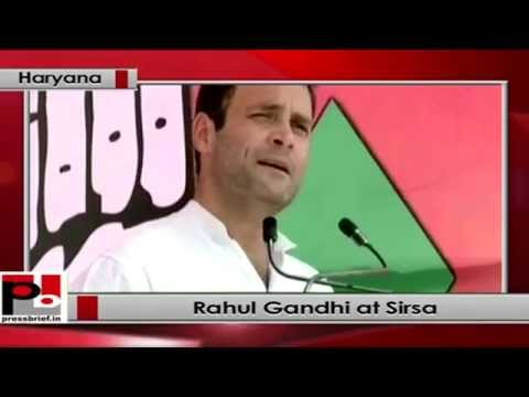 Rahul Gandhi in Congress rally at Sirsa, Haryana
