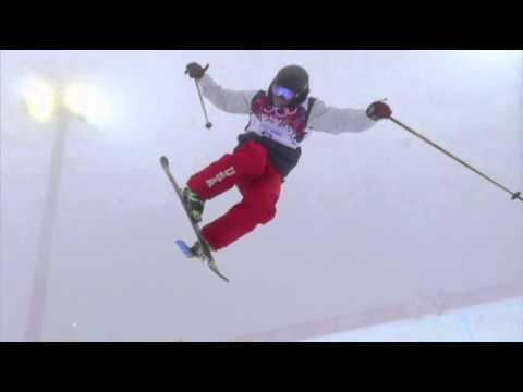 David Wise Overcomes Weather, Wins Gold News Video