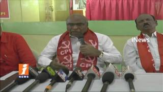 CPI Leader Chada Venkat Reddy Comments On State And Central Govts In Mancherial | iNews