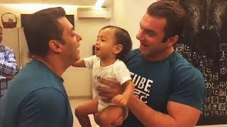 Salman Khan GETS BEATEN With His Nephew AHIL - Cute Video