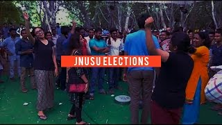 Catch the election fever at the JNU Campus