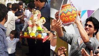 (Video) Shahrukh Khan & Family CELEBRATING Hindu Festival In Mannat - Ganesh Chaturthi, Dahi Handi