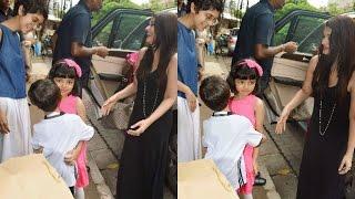 Aishwarya's daughter Aaradhya HUGGING Aamir's son Azad