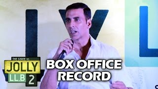 Akshay Kumar On CREATING Record With Jolly LLB 2 - 4th 100 CRORE Film
