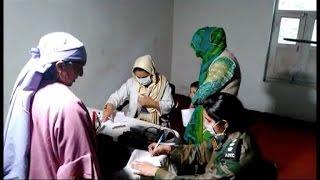 सेना के मुफ्त मेडिकल कैंप में 450 मरीजों ने करवाया इलाज