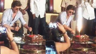 Shahrukh Khan CUTTING CAKE With Media - 52nd Birthday Celebration - Press Conference