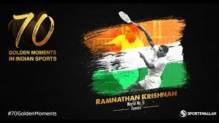 Ramnathan Krishnan - World No. 6, Tennis | 70 Golden Moments In Indian Sports