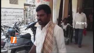 Farmer Attempt Suicide In Front Of CM Camp Office In Hyderabad | iNews