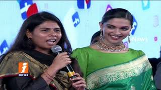 Akila Priya Praises Deepika Padukone | Social Media Summit & Awards | Amaravathi | iNews