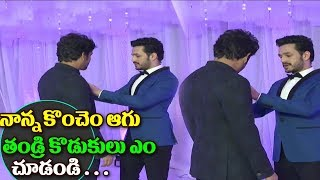 Nagarjuna and Akkineni Akhil Conversation | Naga Chiatanya Samantha Reception2017 | Amala | Samantha