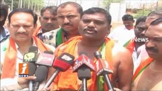 BJP Leaders Fires On CM KCR Over Singareni Inheritance Jobs In Mancherial | iNews