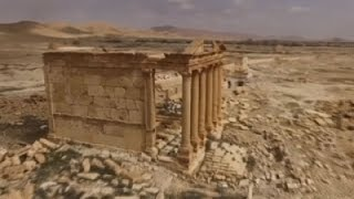 Raw- Drone Footage Captures Palmyra Ruins, City News Video