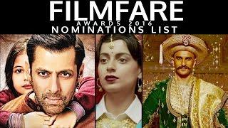 Filmfare Awards 2016 NOMINATIONS LIST   Bajrangi Bhaijaan, Tanu Weds Manu Returns & MORE