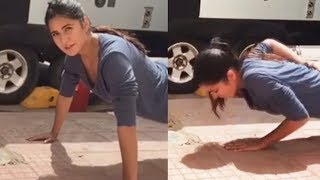 Katrina Kaif Doing One Arm Push Ups On Tiger Zinda Hai Sets