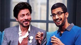 Shahrukh Khan Gets Google CEO Sundar Pichai On TED Talks India Nayi Soch
