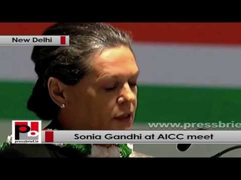 Sonia Gandhi at AICC Session- Growth is essential and must be sustained