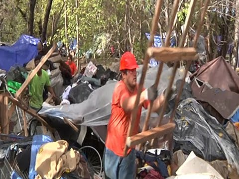 Crews Break Up Homeless Camp in Silicon Valley News Video