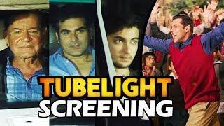 Salman Khan's FAMILY At Tubelight Movie Special Screening | Salim Khan, Arbaaz Khan, Aayush Sharma