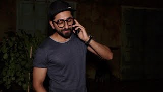 Ayushmann Khurrana spotted with his family at Pali Bhavan