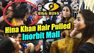 Fan MISBEHAVES With Hina Khan, Pulls Her Hair At Inorbit Mall | BB Mall Task | Bigg Boss 11