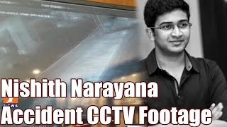 Exclusive CCTV Footage | Narayana's Son Nishith Accident | Jubilee Hills Road No 36 | Hyd | iNews