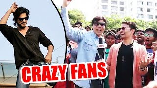 Shahrukh Khan CRAZY FAN From Iran At Mannat - Shahrukh Khan 52nd Birthday Celebration