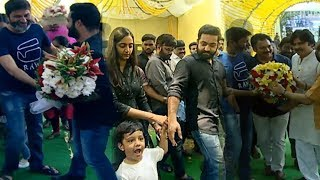 #NTR28 Pooja Ceremony | Pawan Kalyan And Jr Ntr | Trivikram Srinivas || Jr Ntr Son | Top Telugu Tv