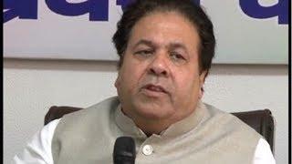 चंडीगढ़ में भाजपा पर बरसे कांग्रेस नेता राजीव शुक्ला