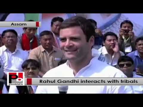Rahul Gandhi in Assam, interacts with Tribal groups in Guwahati