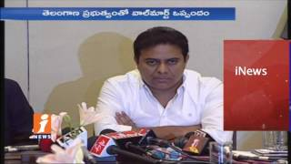 Telangana Govt Signs MoU With Walmart | Minister KTR | iNews