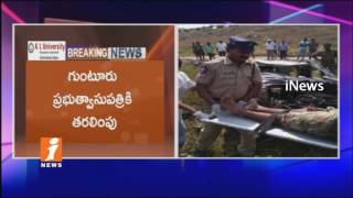 Car Rolls At National highWay In Guntur | 3 Dead And One Injured | iNews